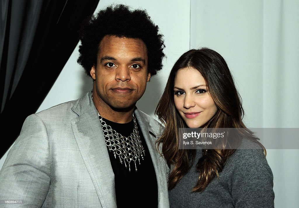 Elew and Katharine McPhee attend No Diggity, No Doubt: Beck's Sapphire Pops Up To Celebrate Super Bowl on January 29, 2013 in New York City.