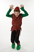 Elf with a Crazy Wild Pose