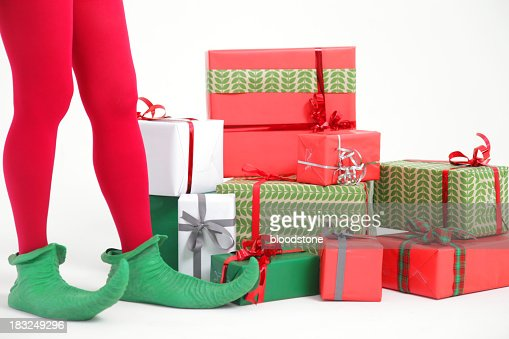 Elf with presents