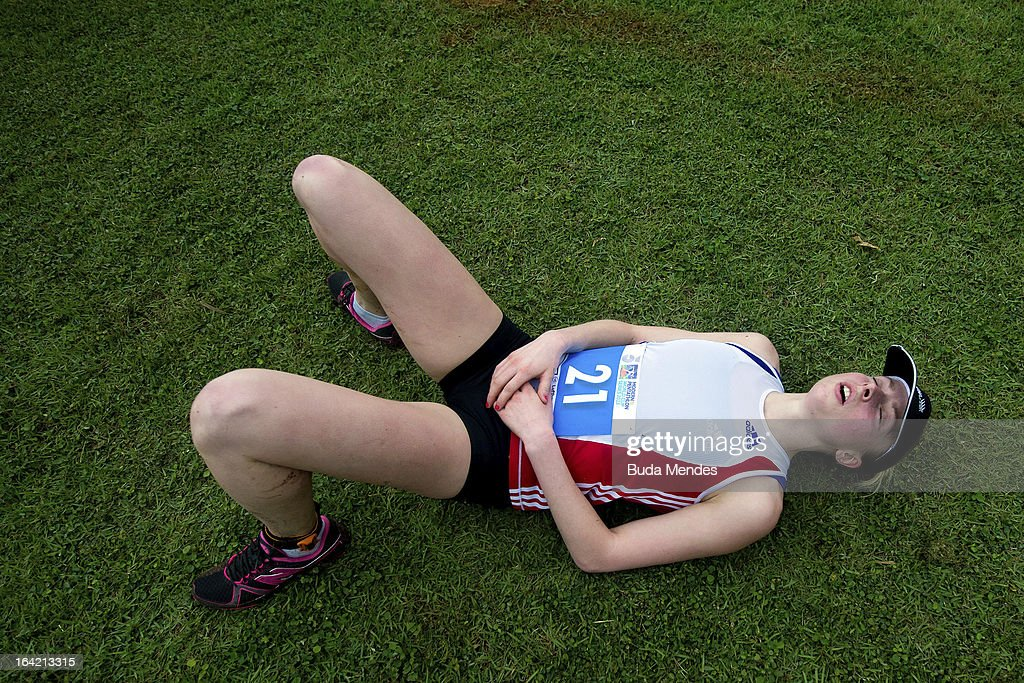 Elfie Arnaud of France competes in the Women's Pentathlon during the Modern Pentathlon World Cup Series 2013 at Complexo Deodoro on March 20, 2013 in Rio de Janeiro, Brazil.