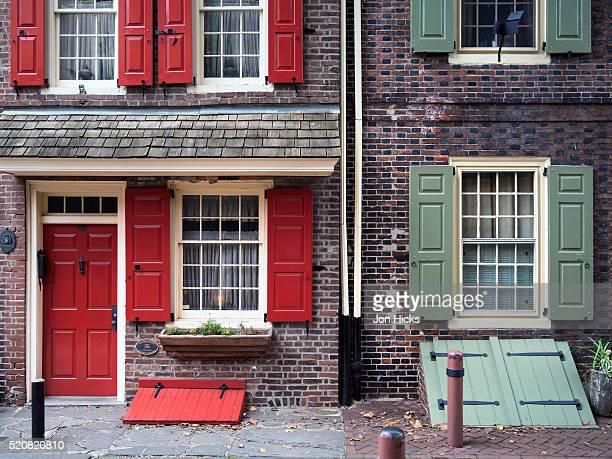 Elfreth's Alley in Philadelphia's historic district.