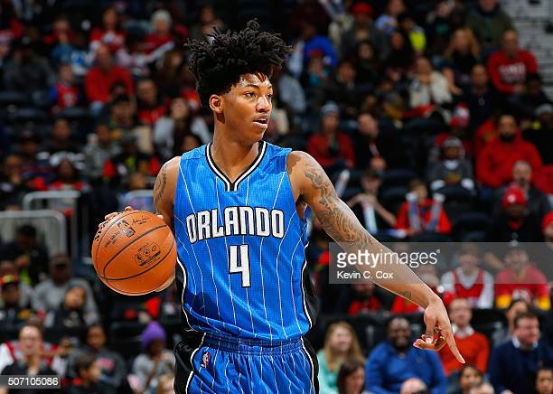Elfrid Payton of the Orlando Magic against the Atlanta Hawks at Philips Arena on January 18 2016 in Atlanta Georgia NOTE TO USER User expressly...