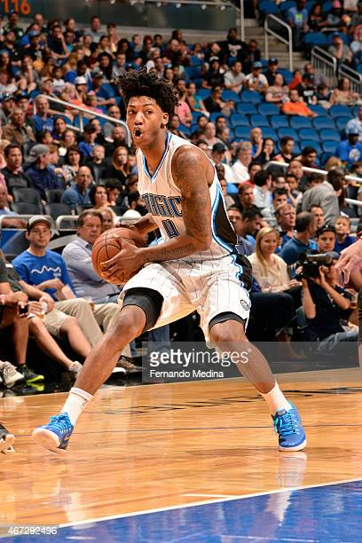 Elfrid Payton of the Orlando Magic drives against the Denver Nuggets on March 22 2015 at Amway Center in Orlando Florida NOTE TO USER User expressly...