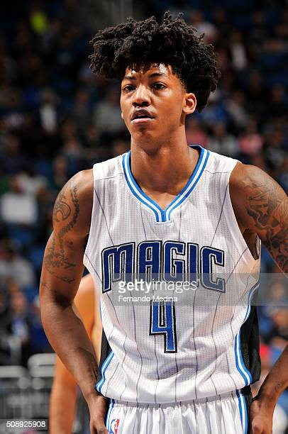 Elfrid Payton of the Orlando Magic during the game against the Philadelphia 76ers on January 20 2016 at Amway Center in Orlando Florida NOTE TO USER...
