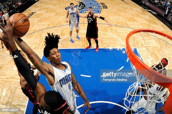 Elfrid Payton of the Orlando Magic goes for the dunk during the game against the Toronto Raptors on February 3 2017 at Amway Center in Orlando...