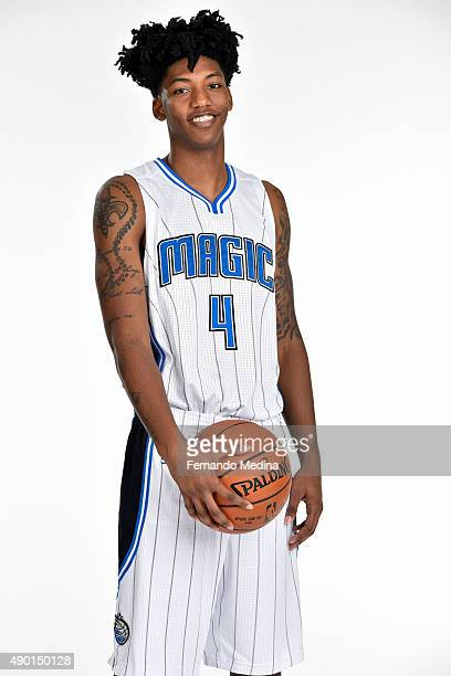 Elfrid Payton of the Orlando Magic poses for a portrait during NBA Media Day on September 25 2015 at Amway Center in Orlando Florida NOTE TO USER...