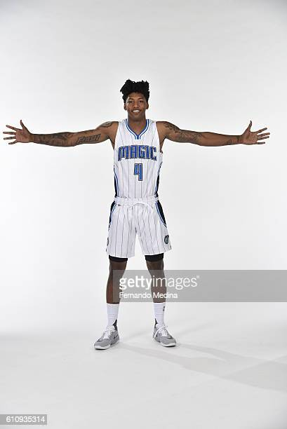 Elfrid Payton of the Orlando Magic poses for a portrait during NBA Media Day on September 26 2016 at Amway Center in Orlando Florida NOTE TO USER...