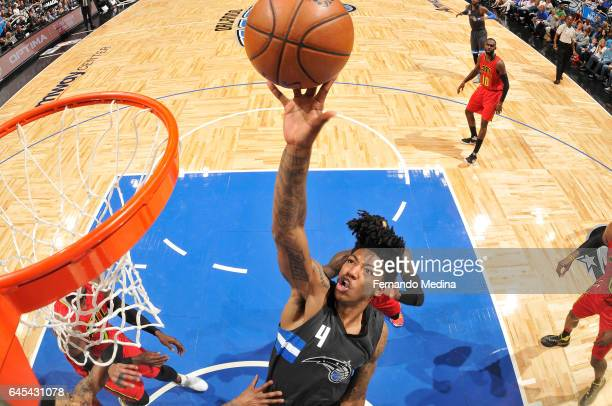 Elfrid Payton of the Orlando Magic shoots the ball against the Atlanta Hawks on February 25 2017 at Amway Center in Orlando Florida NOTE TO USER User...
