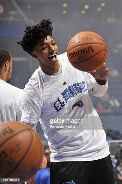 Elfrid Payton of the Orlando Magic warms up before the game against the Phoenix Suns on March 4 2016 at Amway Center in Orlando Florida NOTE TO USER...