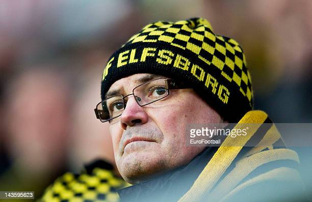Elfsborg supporters during the Swedish Allsvenskan League match between IF Elfsborg and GAIS Goteborg held on April 26 2012 at the Boras Arena in...