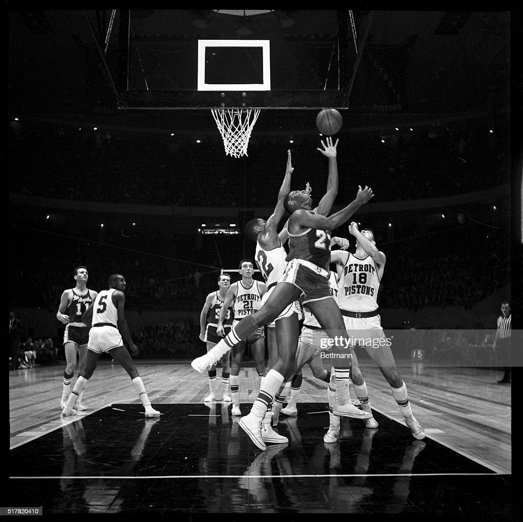Elgin Baylor Balancing Basketball on Fingertips