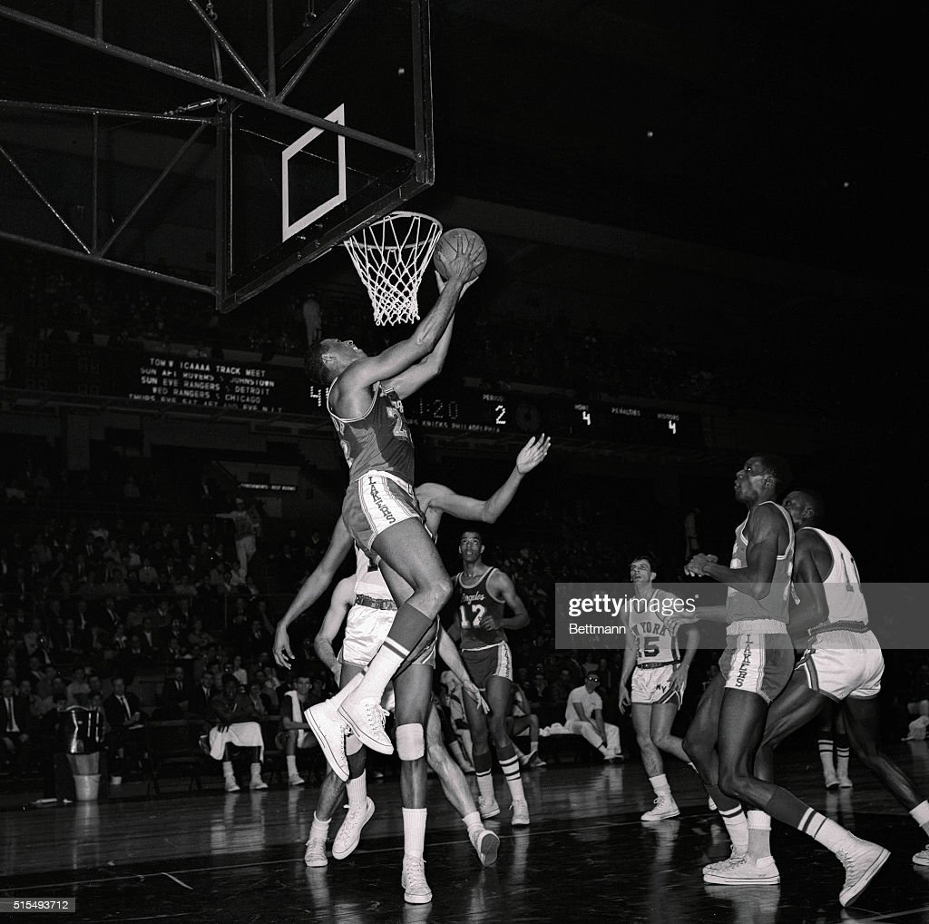 Elgin Baylor Going for Layup
