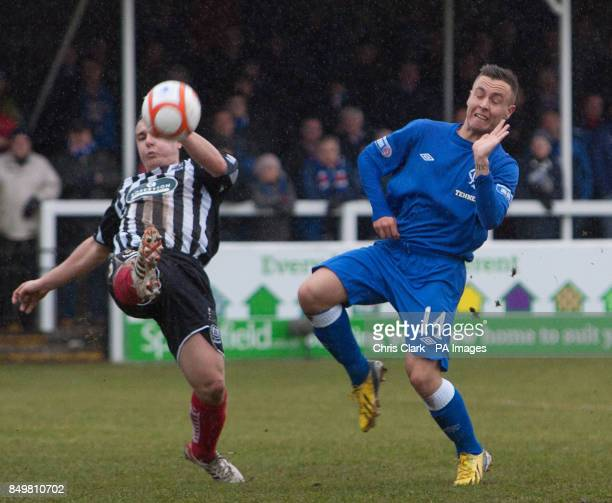 Elgin City's Paul McMullan battles with Rangers' Barrie McKay during the IRNBRU Scottish Third Division match at Borough Briggs Eligin