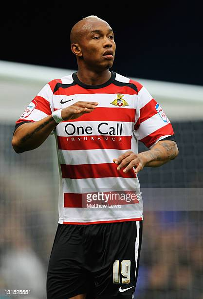 ElHadji Diouf of Doncaster Rovers in action during the npower Championship match between Ipswich Town and Doncaster Rovers at Portman Road on...