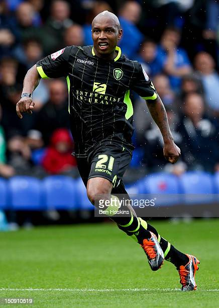ElHadji Diouf of Leeds in action during the npower Championship match between Peterborough United and Leeds United at The London Road Stadium on...