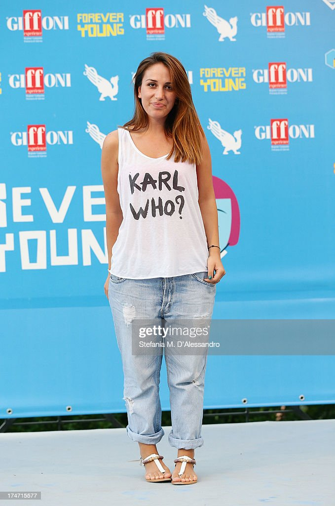 Elhaida Dani attends 2013 Giffoni Film Festival photocall on July 28, 2013 in Giffoni Valle Piana, Italy.