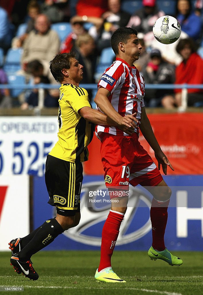 Eli Babalj of the Heart controls the ball during the round nine A-League match between the Melbourne Heart and the Wellington Phoenix at Latrobe City Sports & Entertainment Complex on December 4, 2011 in Melbourne, Australia.