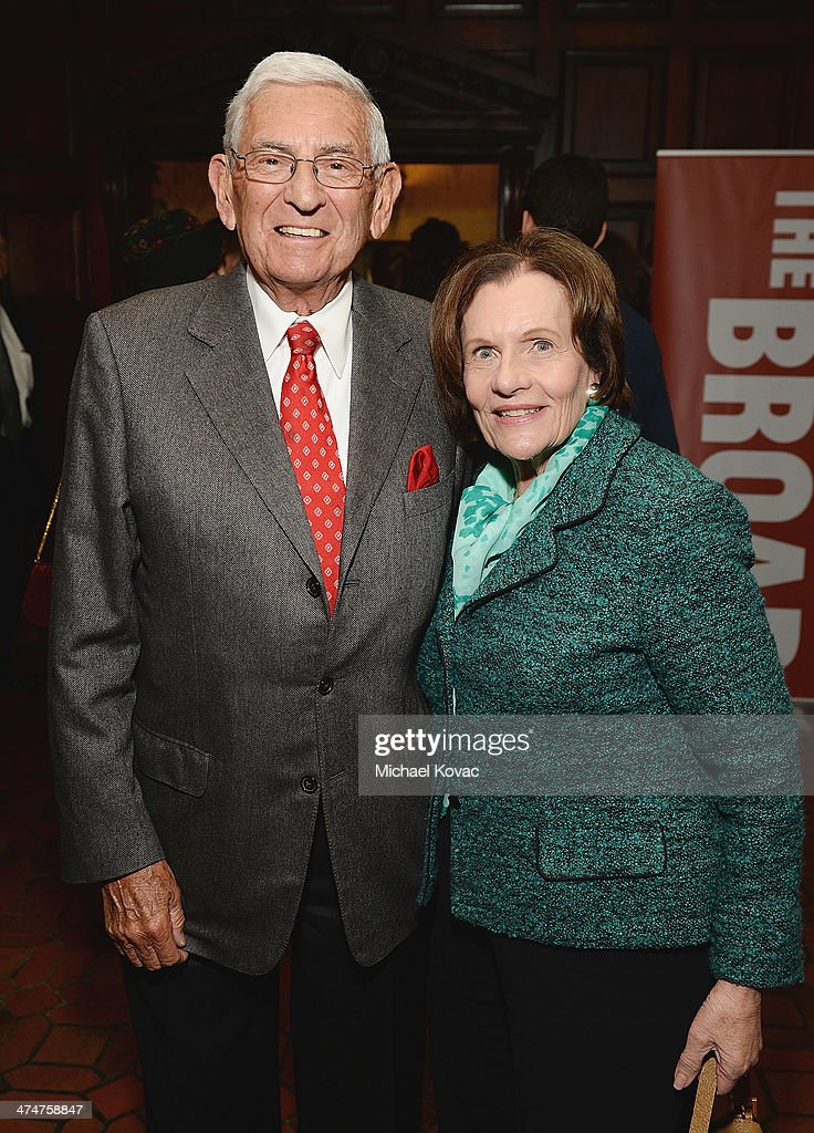 <a gi-track='captionPersonalityLinkClicked' href=/galleries/search?phrase=Eli+Broad&family=editorial&specificpeople=627780 ng-click='$event.stopPropagation()'>Eli Broad</a> (L) and <a gi-track='captionPersonalityLinkClicked' href=/galleries/search?phrase=Edythe+Broad&family=editorial&specificpeople=712285 ng-click='$event.stopPropagation()'>Edythe Broad</a> attend the Dom Perignon Reception after The Un-Private Collection: Jeff Koons and John Waters in Conversation at Orpheum Theatre on February 24, 2014 in Los Angeles, California.