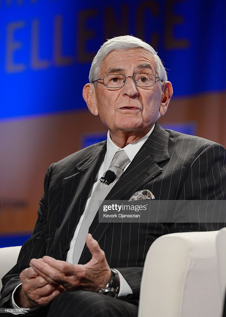 <a gi-track='captionPersonalityLinkClicked' href=/galleries/search?phrase=Eli+Broad&family=editorial&specificpeople=627780 ng-click='$event.stopPropagation()'>Eli Broad</a>, founder, The Broad Foundations, speaks during the United Way of Greater Los Angeles' Education Summit at the Los Angeles Convention Center on February 27, 2013 in Los Angeles, California. Los Angeles Mayor Antonio Villaraigosa was honored during the summit for championing education reform.