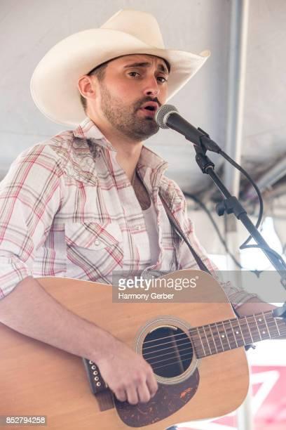 Eli Locke performs Coastal Country Jam at Huntington State Beach on September 23 2017 in Huntington Beach California