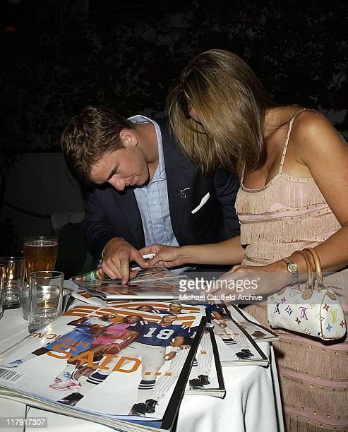 Eli Manning and guest during 2004 ESPY Awards Jamie Foxx After Party at Skybar at The Mondrian in Los Angeles California United States