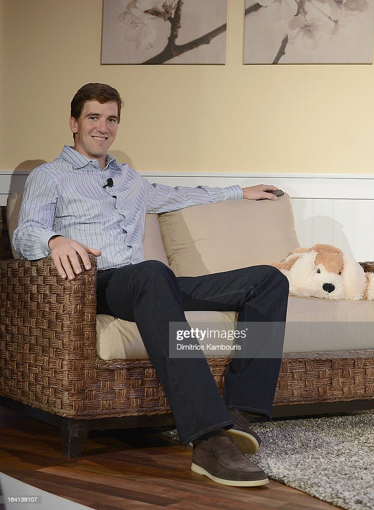 <a gi-track='captionPersonalityLinkClicked' href=/galleries/search?phrase=Eli+Manning&family=editorial&specificpeople=202013 ng-click='$event.stopPropagation()'>Eli Manning</a> attends the Samsung 2013 Television Line Launch Event at the Museum Of American Finance on March 20, 2013 in New York City.