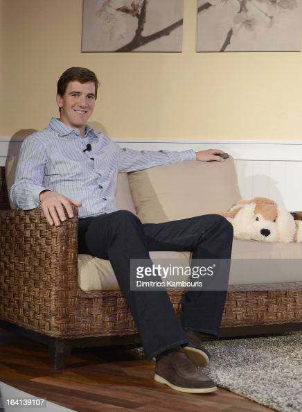 Eli Manning attends the Samsung 2013 Television Line Launch Event at the Museum Of American Finance on March 20 2013 in New York City