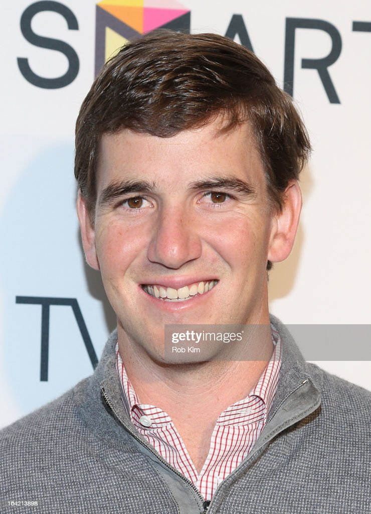 <a gi-track='captionPersonalityLinkClicked' href=/galleries/search?phrase=Eli+Manning&family=editorial&specificpeople=202013 ng-click='$event.stopPropagation()'>Eli Manning</a> attends The Samsung Spring 2013 Launch at the Museum Of American Finance on March 20, 2013 in New York City.