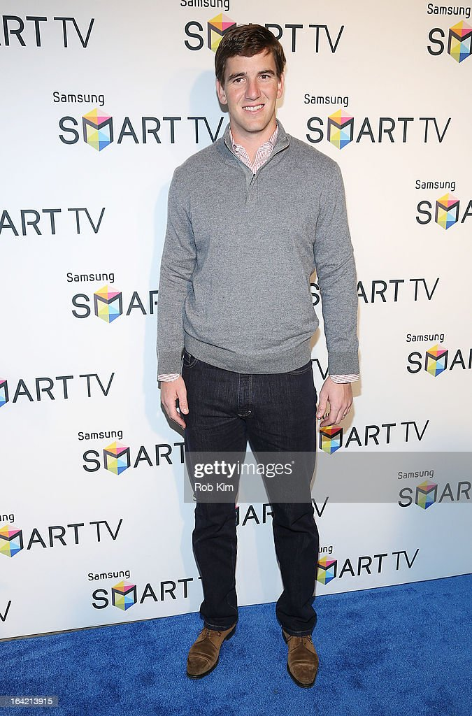 Eli Manning attends The Samsung Spring 2013 Launch at the Museum Of American Finance on March 20, 2013 in New York City.