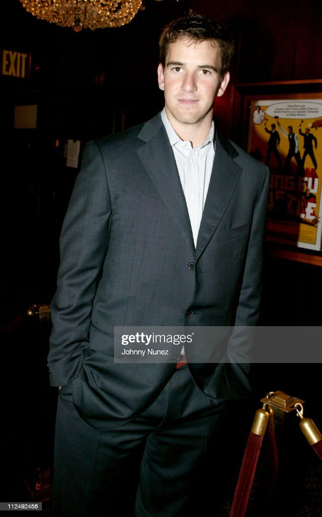 <a gi-track='captionPersonalityLinkClicked' href=/galleries/search?phrase=Eli+Manning&family=editorial&specificpeople=202013 ng-click='$event.stopPropagation()'>Eli Manning</a> during 'Kung Fu Hustle' New York City Premiere at Zeigfeld Theater in New York City, New York, United States.