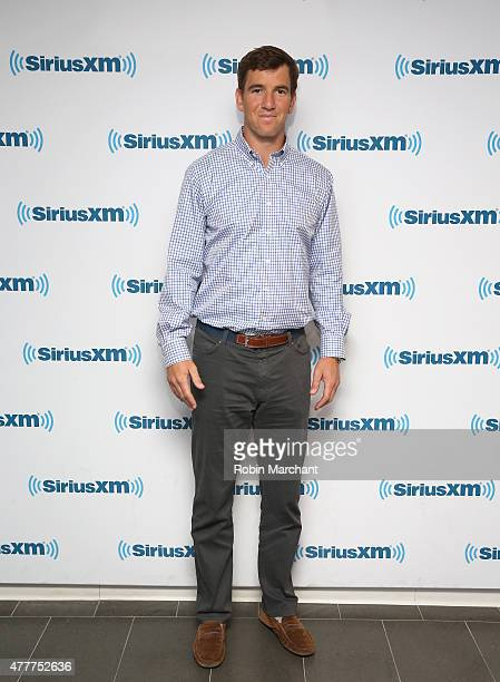 Eli Manning visits at SiriusXM Studios on June 19 2015 in New York City