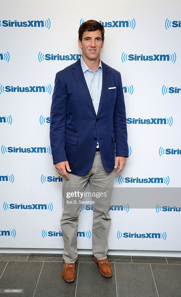 Eli Manning visits the SiriusXM Studios on June 11, 2014 in New York City.