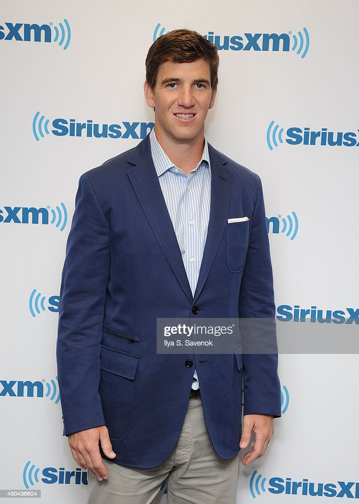 Eli Manning visits the SiriusXM Studios on June 11, 2014 in New York City.