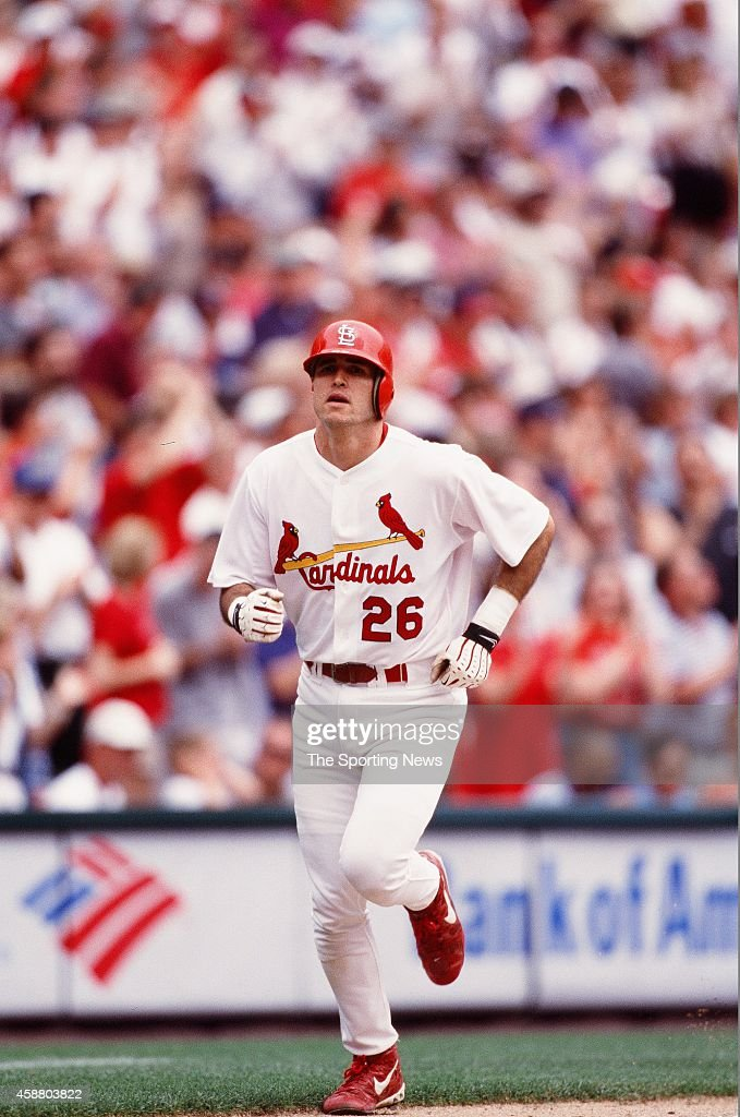 Eli Marrero of the St Louis Cardinals runs against the Philadelphia Phillies on May 12 1999 at Citizens Bank Park in Philadelphia Pennsylvania