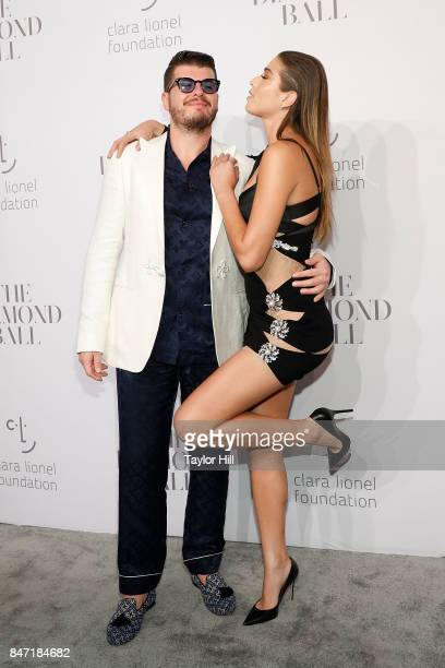 Eli Mizrahi and Daniela Lopez Osorio attend the 3rd Annual Diamond Ball at Cipriani Wall Street on September 14 2017 in New York City