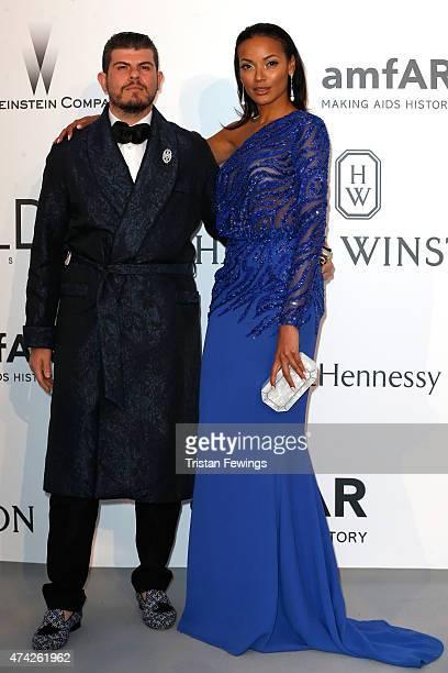Eli Mizrahi and model Selita Ebanks attend amfAR's 22nd Cinema Against AIDS Gala Presented By Bold Films And Harry Winston at Hotel du CapEdenRoc on...