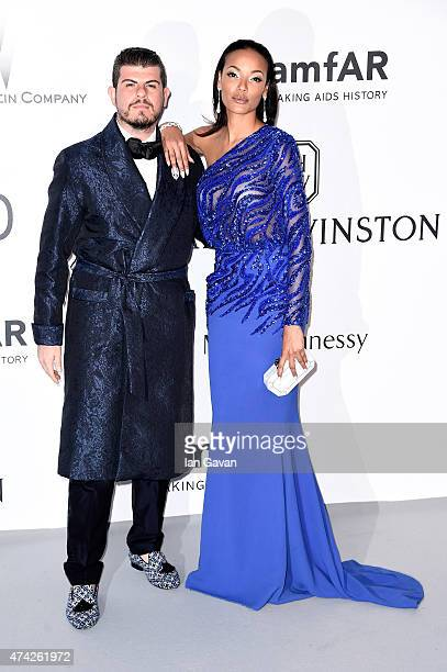 Eli Mizrahi and model Selita Ebanks attend amfAR's 22nd Cinema Against AIDS Gala Presented By Bold Films And Harry Winston at Hotel du CapEdenRoc on...