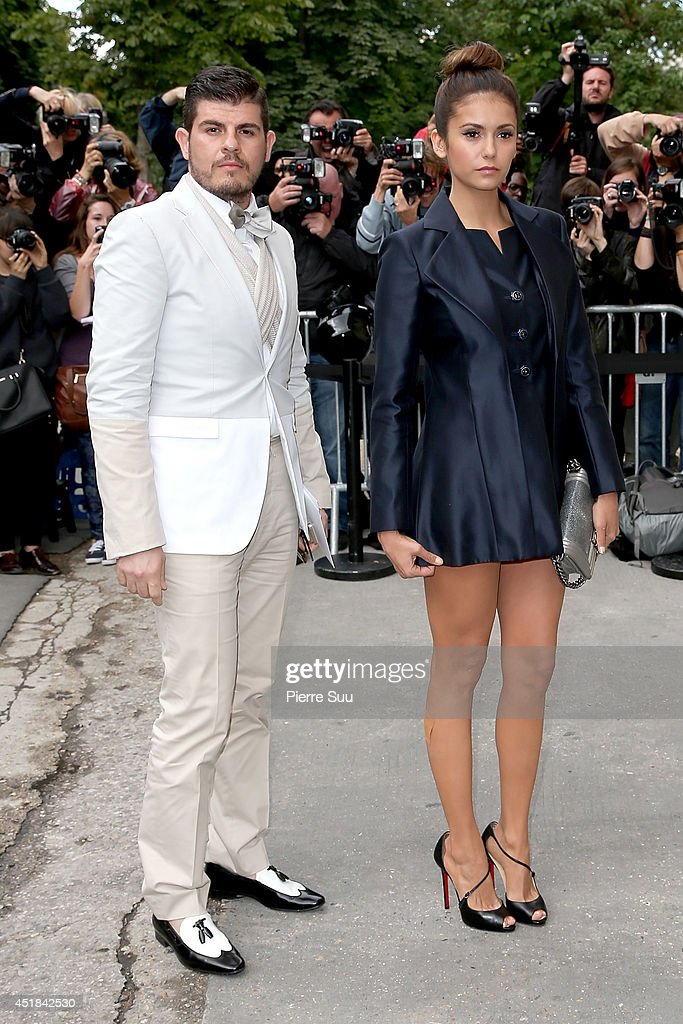 Eli Mizrahi and <a gi-track='captionPersonalityLinkClicked' href=/galleries/search?phrase=Nina+Dobrev&family=editorial&specificpeople=4397485 ng-click='$event.stopPropagation()'>Nina Dobrev</a> attend the Chanel show as part of Paris Fashion Week - Haute Couture Fall/Winter 2014-2015 at Grand Palais on July 8, 2014 in Paris, France.