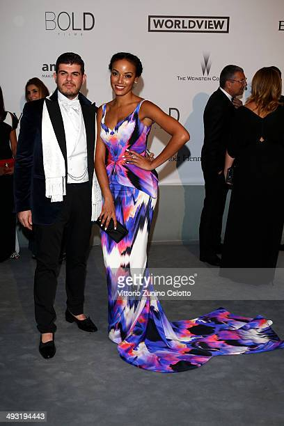 Eli Mizrahi and Selita Ebanks attend amfAR's 21st Cinema Against AIDS Gala Presented By WORLDVIEW BOLD FILMS And BVLGARI at Hotel du CapEdenRoc on...