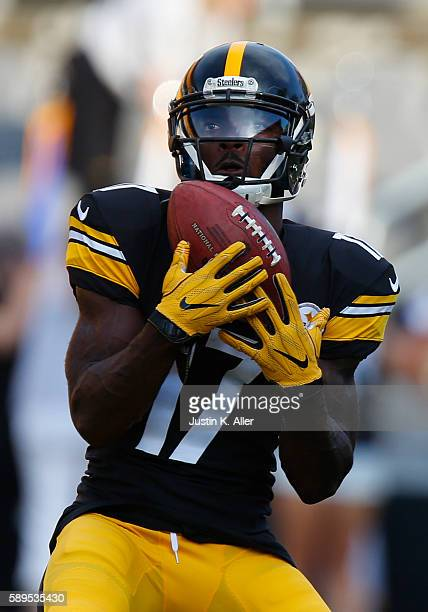 Eli Rogers of the Pittsburgh Steelers in action during the game against the Detroit Lions on August 12 2016 at Heinz Field in Pittsburgh Pennsylvania