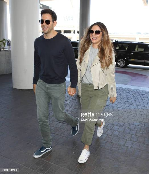 Eli Roth and Lorenza Izzo are seen on June 28 2017 in Los Angeles California