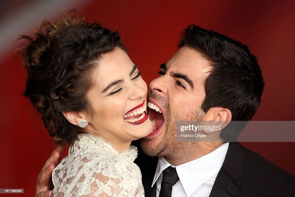 <a gi-track='captionPersonalityLinkClicked' href=/galleries/search?phrase=Eli+Roth&family=editorial&specificpeople=543948 ng-click='$event.stopPropagation()'>Eli Roth</a> and <a gi-track='captionPersonalityLinkClicked' href=/galleries/search?phrase=Lorenza+Izzo&family=editorial&specificpeople=7050477 ng-click='$event.stopPropagation()'>Lorenza Izzo</a> attend 'The Green Inferno' Premiere during The 8th Rome Film Festival at Auditorium Parco Della Musica on November 12, 2013 in Rome, Italy.