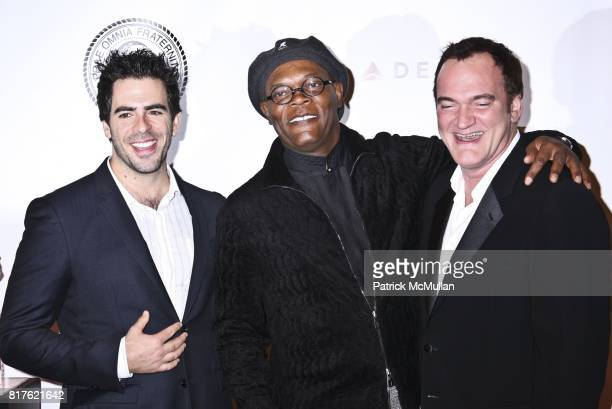 Eli Roth Samuel L Jackson and Quentin Tarantino attend THE NEW YORK FRIARS CLUB ROAST OF QUENTIN TARANTINO at Friars Club on December 1 2010 in New...