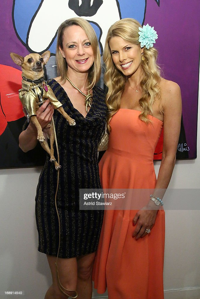 Eli the Chihuahua, <a gi-track='captionPersonalityLinkClicked' href=/galleries/search?phrase=Karen+Biehl&family=editorial&specificpeople=5330953 ng-click='$event.stopPropagation()'>Karen Biehl</a> and <a gi-track='captionPersonalityLinkClicked' href=/galleries/search?phrase=Beth+Ostrosky&family=editorial&specificpeople=212785 ng-click='$event.stopPropagation()'>Beth Ostrosky</a> Stern attend Chris Collins 'Top Dogs' VIP Reception on May 16, 2013 in New York, United States.