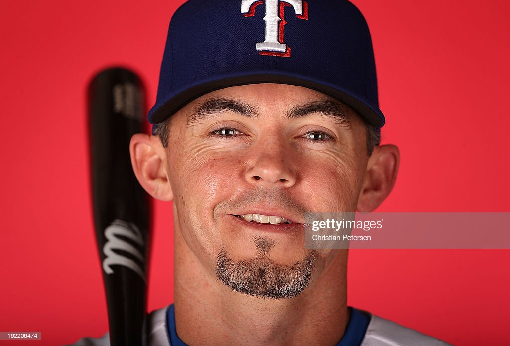 <a gi-track='captionPersonalityLinkClicked' href=/galleries/search?phrase=Eli+Whiteside&family=editorial&specificpeople=836374 ng-click='$event.stopPropagation()'>Eli Whiteside</a> #6 of the Texas Rangers poses for a portrait during spring training photo day at Surprise Stadium on February 20, 2013 in Surprise, Arizona.