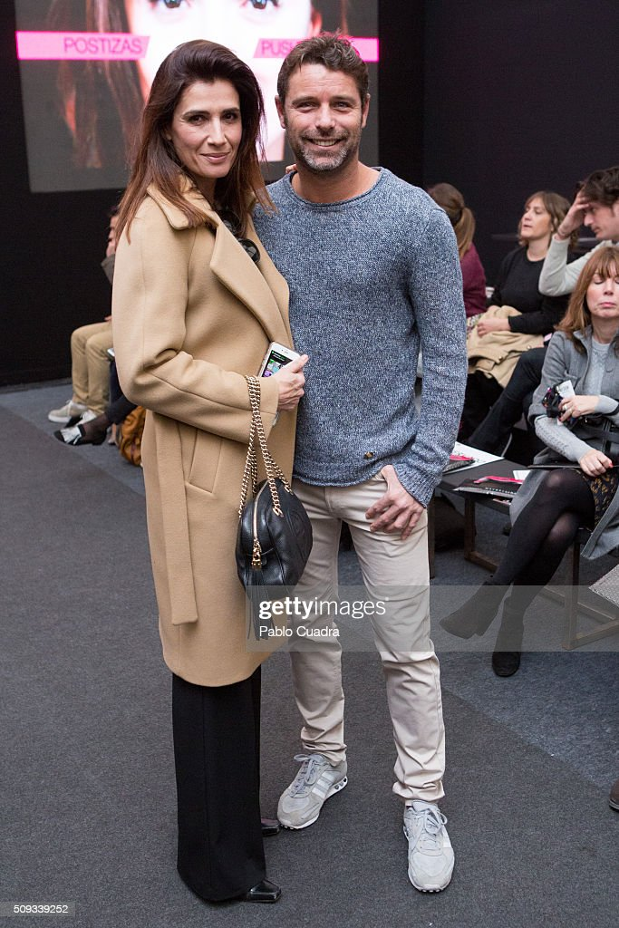 Elia Galera and David Ascanio attend the Maybelline NY & Bloomers&Bikini Fashion Show during de MFShow on February 10, 2016 in Madrid, Spain.