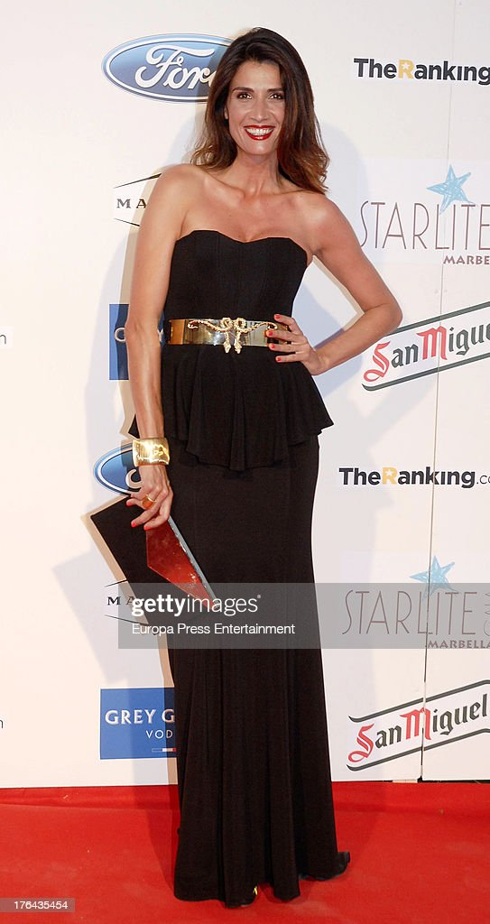 Elia Galera attend the 4rd annual Starlite Charity Gala on August 10, 2013 in Marbella, Spain.