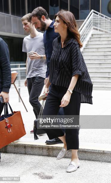 Elia Galera attend the funeral chapel for the fashion designer David Delfin at Dress Museum on June 4 2017 in Madrid Spain