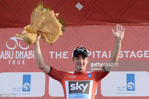 Elia VIviani an Italian rider from Team Sky wins The Capital second stage of the 2015 Abu Dhabi Tour the 129 km from Yas Marina Circuit to Yas Mall...