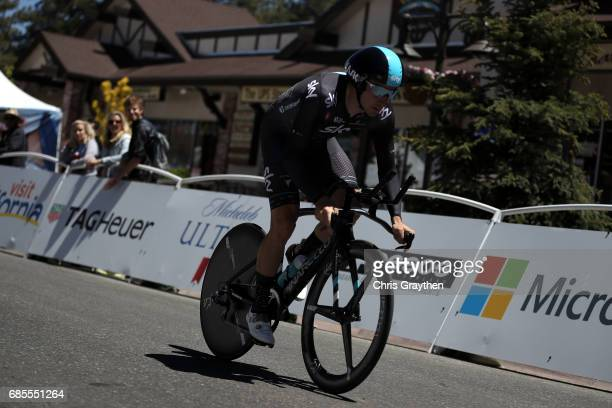 Elia Viviani of Italy riding for Team Sky rides during stage five of the AMGEN Tour of California from Ontario to Mt Baldy on May 18 2017 in Ontario...